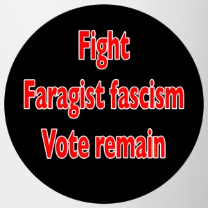 Fight Faragist fascism referendum murder of Jo Cox Buttons - Mug