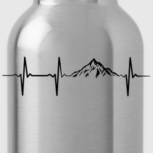 Heartbeat Mountains T-Shirts - Water Bottle