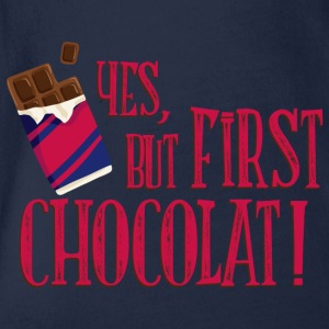 yes_but_first_chocolat_06201603 T-Shirts - Baby Bio-Kurzarm-Body