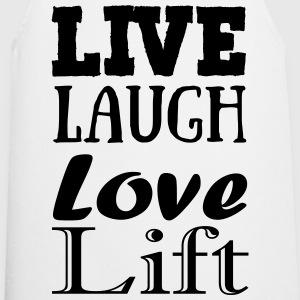 Live,laugh,love, lift Topy - Fartuch kuchenny