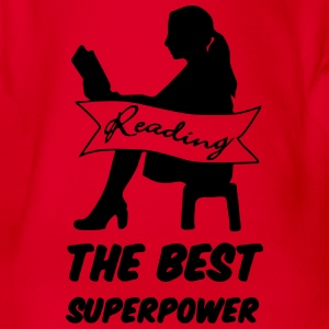 Superpower Reading Shirts - Organic Short-sleeved Baby Bodysuit
