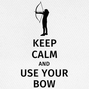 keep calm and use your bow T-shirts - Baseballkasket
