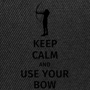 keep calm and use your bow Bouteilles et Tasses - Casquette snapback