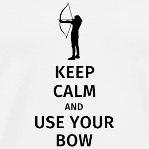 keep calm and use your bow Krus & tilbehør - Herre premium T-shirt