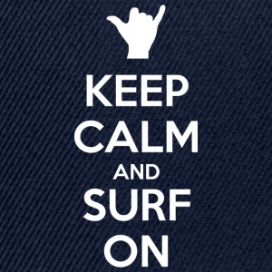 Keep Calm and Surf On - Casquette snapback