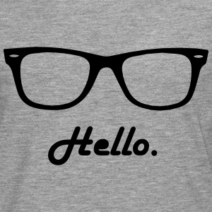 hipster glasses T-Shirts - Men's Premium Longsleeve Shirt