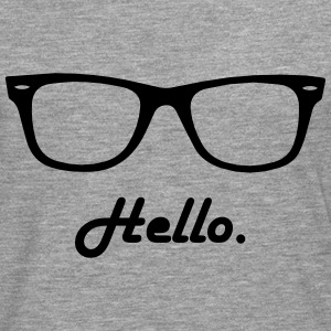 hipster glasses Shirts - Men's Premium Longsleeve Shirt