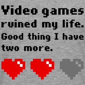 Video games ruined my life - Männer Premium Langarmshirt