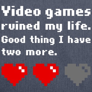 Video games ruined my life - Schultertasche aus Recycling-Material