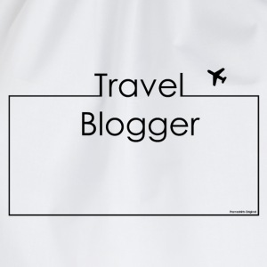 Travel Blogger Black Tops - Drawstring Bag