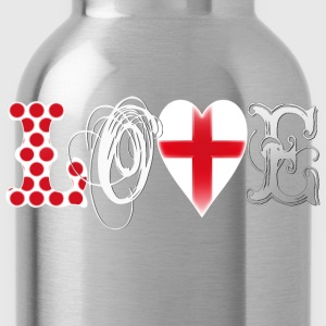 Love England White Tops - Water Bottle