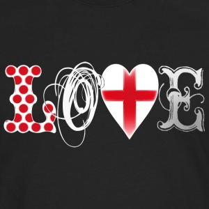 Love England White Tops - Men's Premium Longsleeve Shirt