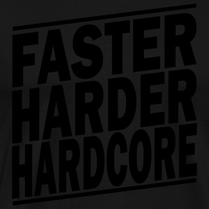 faster harder ii Tabliers - T-shirt Premium Homme