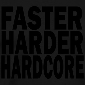 faster harder louder Tabliers - T-shirt Premium Homme