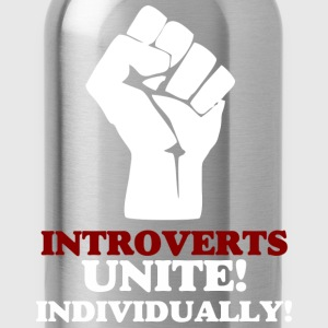 Introverts Unite (dark) v2 T-Shirts - Water Bottle