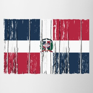 Dominican Republic flag - wood vintage look T-Shirts - Tasse