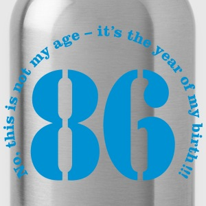 Year of birth 1986 - Not my age T-Shirts - Water Bottle