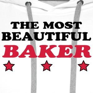 The most beautiful baker T-Shirts - Men's Premium Hoodie