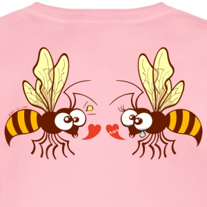 Bees expressing opposite points of view about love Hoodies - Organic Short-sleeved Baby Bodysuit