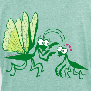 Praying mantises dangerously falling in love Hoodies & Sweatshirts - Women's T-shirt with rolled up sleeves