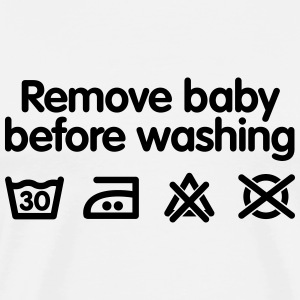 Remove baby before washing Tee shirts manches longues Bébés - T-shirt Premium Homme