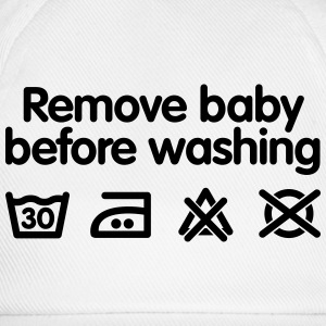 Remove baby before washing Babysmekke - Baseballcap