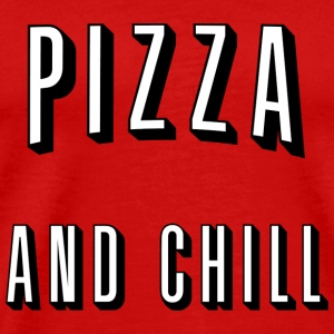 Pizza and chill Langærmede T-shirts - Herre premium T-shirt