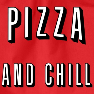Pizza and chill Tops - Drawstring Bag