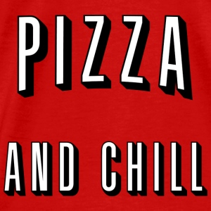 Pizza and chill Toppar - Premium-T-shirt herr