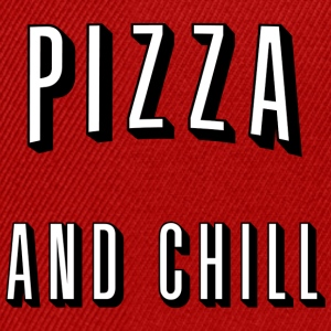 Pizza and chill Långärmade T-shirts - Snapbackkeps