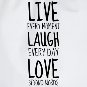 Live Laugh Love - Humor - Funny - Joke - Friend Tee shirts - Sac de sport léger
