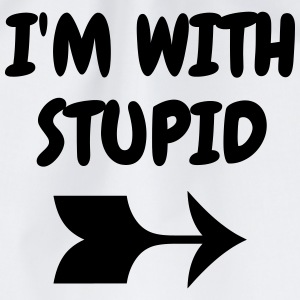 I'm with stupid - Humor - Funny - Joke - Friend Tee shirts - Sac de sport léger