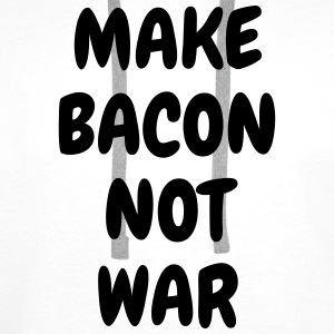 Make bacon not war - Humor - Funny - Joke - Friend Camisetas - Sudadera con capucha premium para hombre