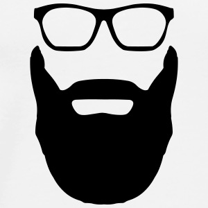Beard And Glasses Bags & Backpacks - Men's Premium T-Shirt