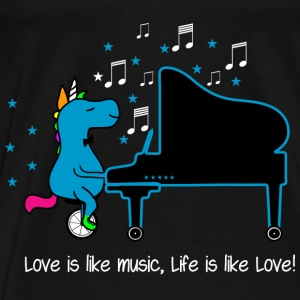 Piano Unicorn - Life Love Quotes 2020 Tops - Men's Premium T-Shirt