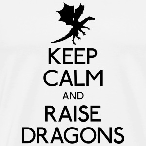 Keep calm dragons Sweatshirts - Herre premium T-shirt
