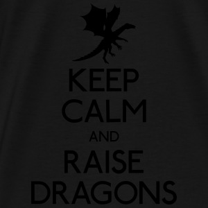 Keep calm dragons Hoodies & Sweatshirts - Men's Premium T-Shirt