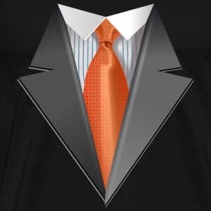 Tuxedo Tie Designs Tie orange Pullover & Hoodies - Männer Premium T-Shirt