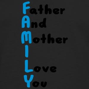 FAMILY (Father And Mother I Love You) Kopper & tilbehør - Premium langermet T-skjorte for menn