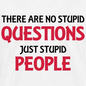 There are no stupid questions, just stupid people Langarmshirts - Männer Premium T-Shirt