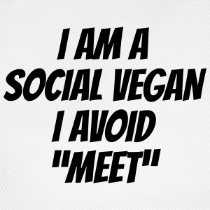 I am a social vegan I avoid meet T-shirts - Basebollkeps