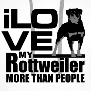 I love my Rottweiler more than I love people - Men's Premium Hoodie