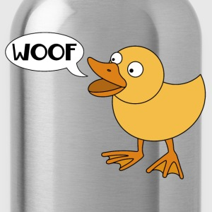 Duck says woof - Water Bottle