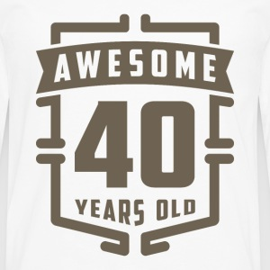 Awesome 40 Years Old - Men's Premium Longsleeve Shirt