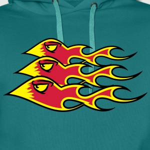 Fire flame formation T-Shirts - Men's Premium Hoodie
