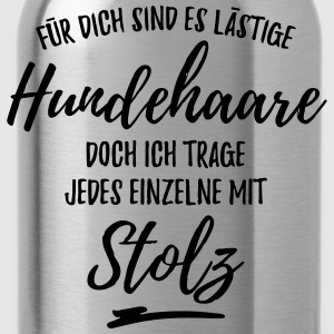 Stolzer Hundehaare-Träger T-Shirts - Trinkflasche