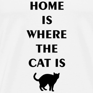home is where the cat is Ropa deportiva - Camiseta premium hombre