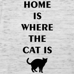 home is where the cat is T-Shirts - Women's Tank Top by Bella