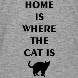 home is where the cat is T-Shirts - Men's Premium Longsleeve Shirt