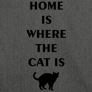 home is where the cat is T-Shirts - Shoulder Bag made from recycled material
